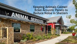 Animal shelter with noise control